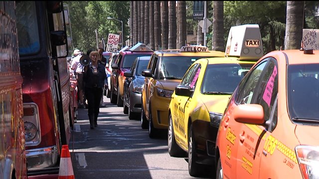 Taxi Drivers Push for Ridesharing Regulation