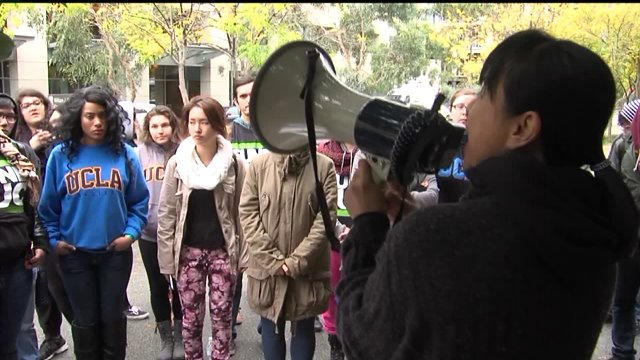 Students protest tuition hike at UC Regents meeting