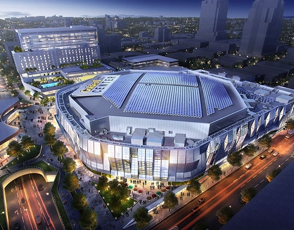 New Golden1 Center Solar Panel renderings released.