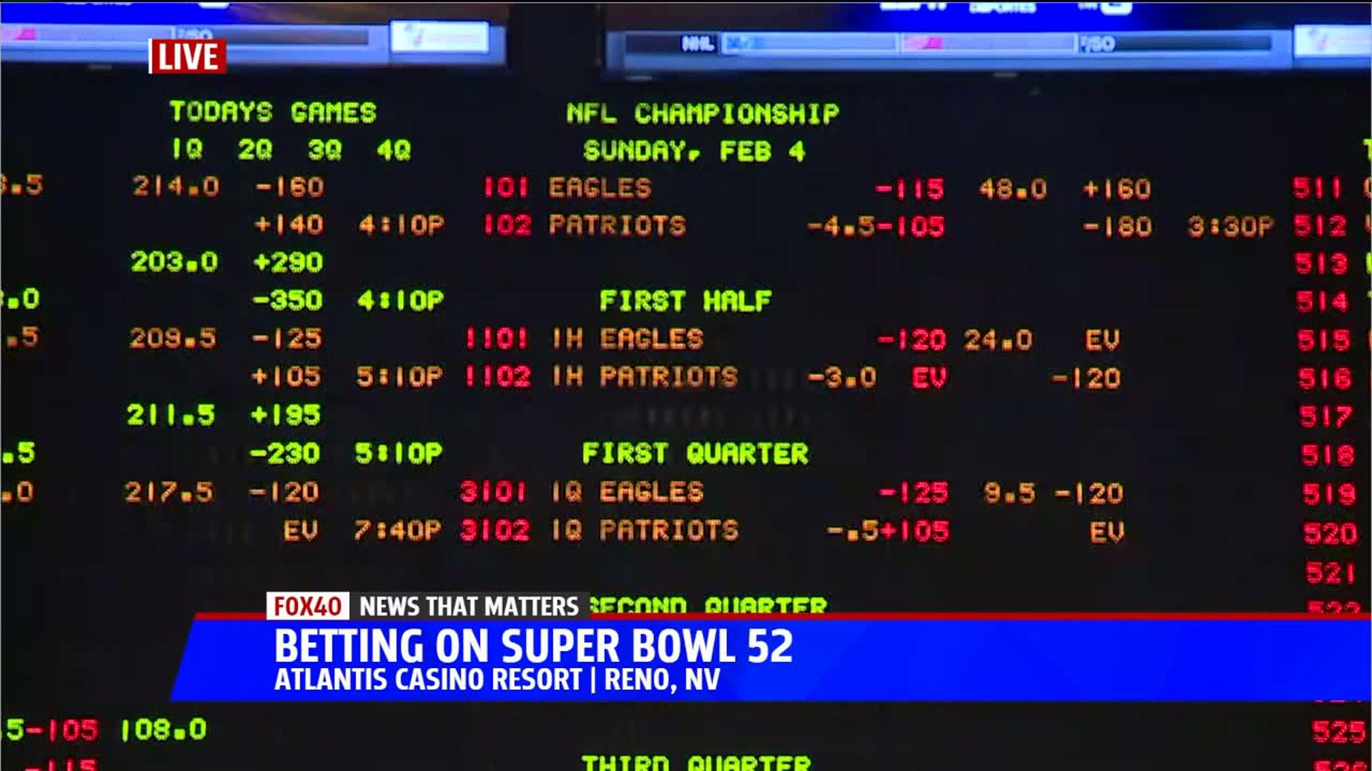 reno super bowl betting