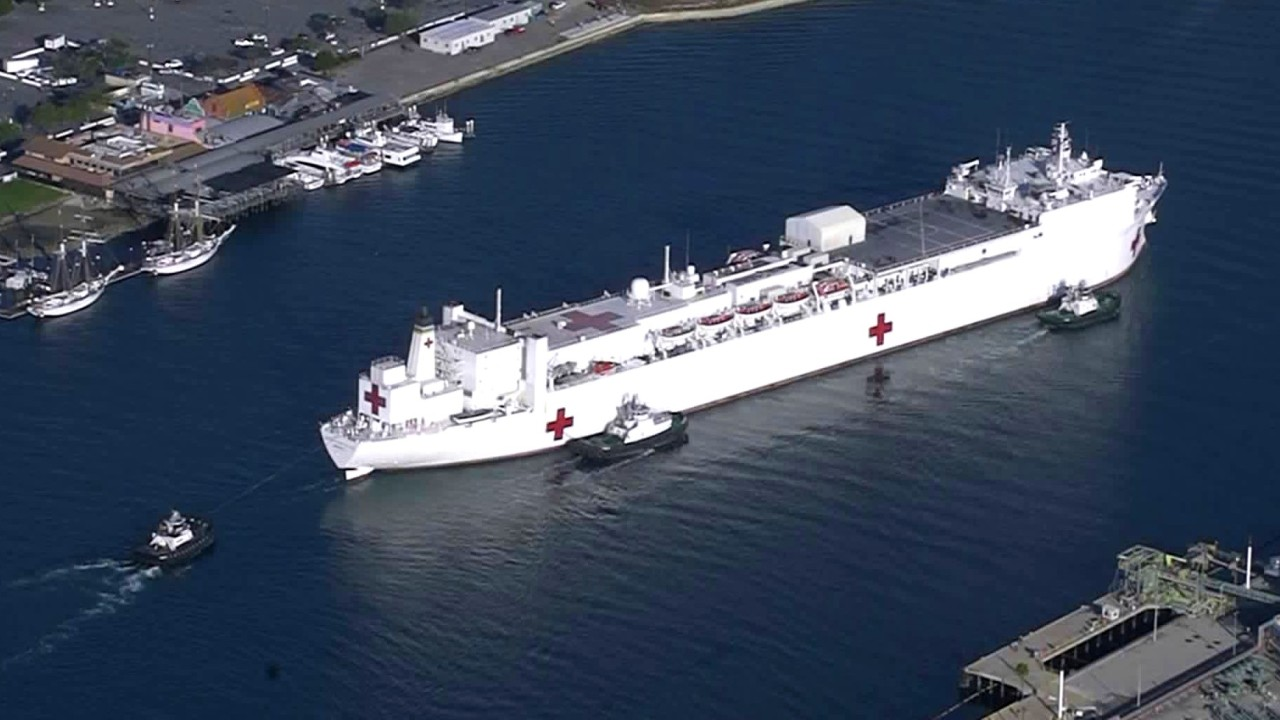 On-board US Navy Hospital Ship – USNS Mercy – Los Angles – March 31 2020