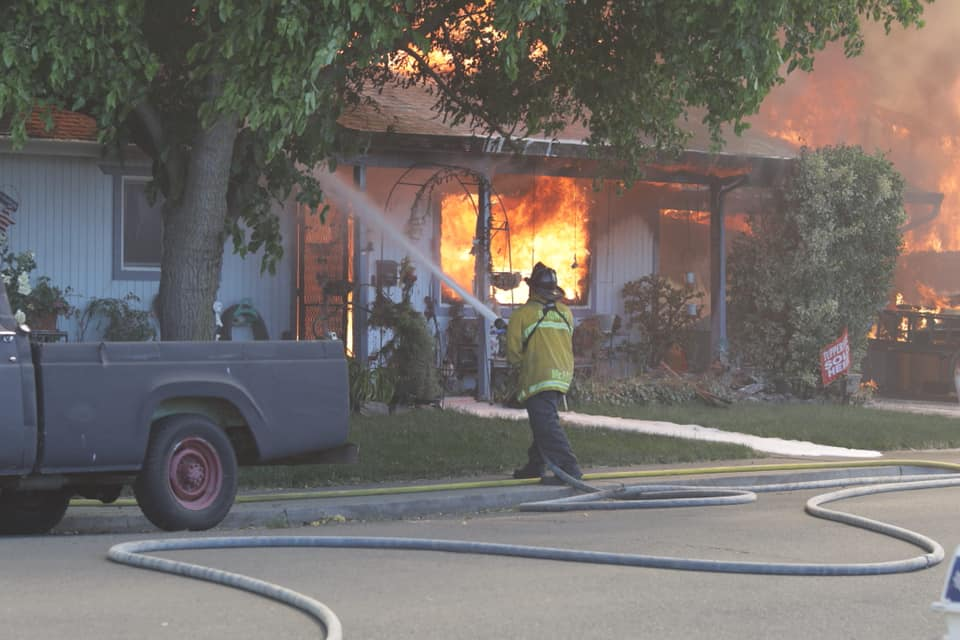 Multiple Crews Battle Large Brush Fire In Suisun City