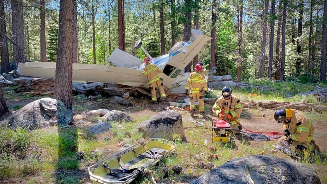Pilot killed in Tahoe crash aided in Sierra rescue last year