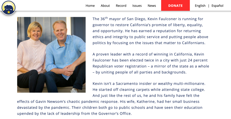 Former San Diego Mayor Faulconer formally announces bid for governorship